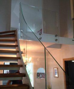 Vetro Glasräcke trappa fixpoint glas